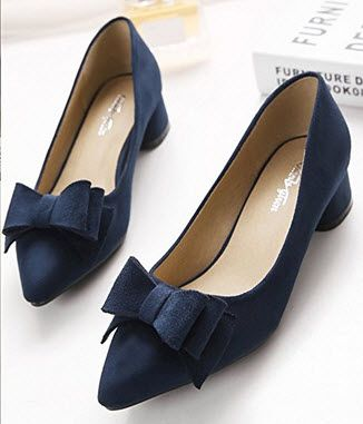 Womens navy blue dress shoes | Blue
