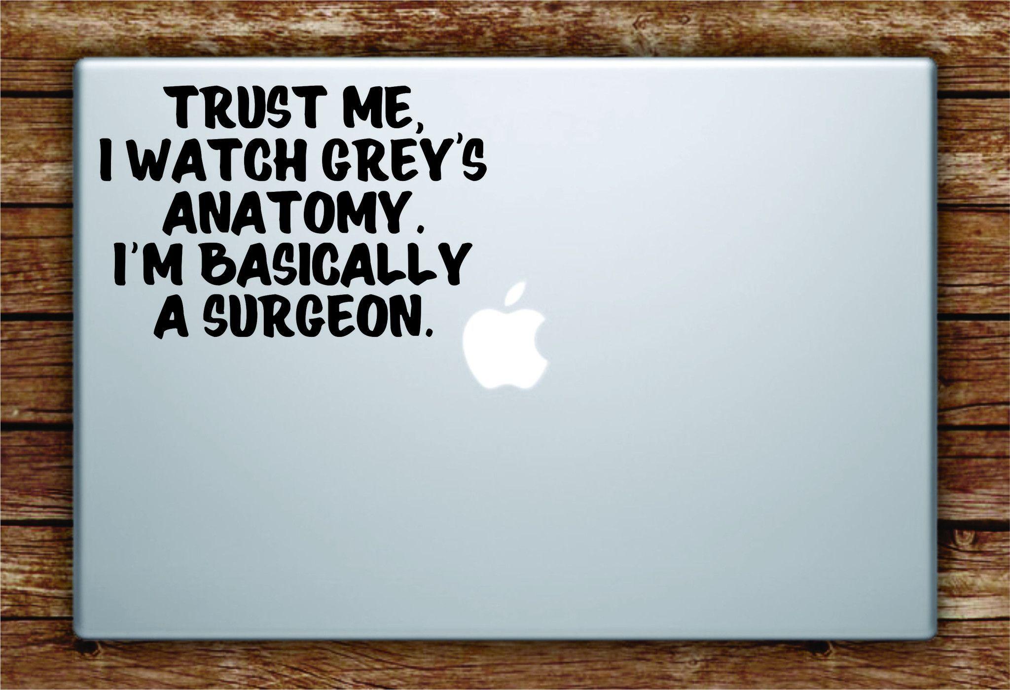 Greys Anatomy Quote Laptop Decal Sticker Vinyl Art Quote