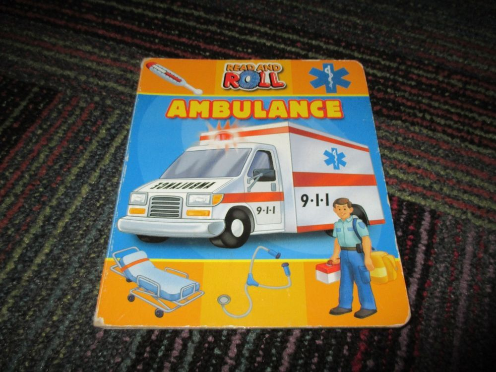 READ & ROLL AMBULANCE BOARD BOOK BY PHIDAL, GREAT READ, GUC