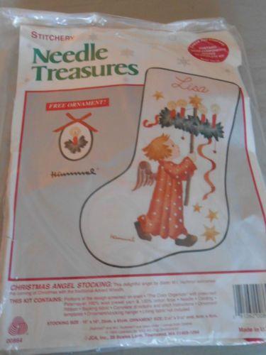 stitchery needle tresures stocking hummel used