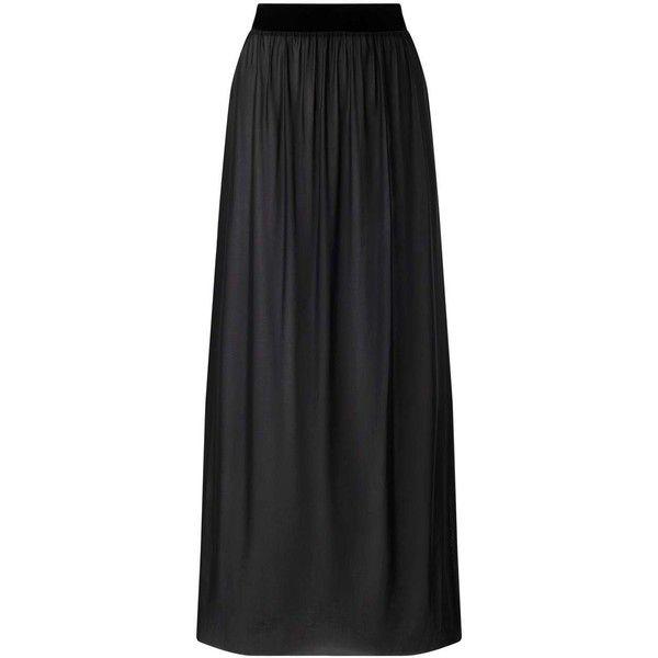 Miss Selfridge Black Mesh Maxi Skirt (405 SEK) ❤ liked on Polyvore featuring skirts, black, ankle length skirt, long skirts, mesh maxi skirt, mesh skirt and miss selfridge