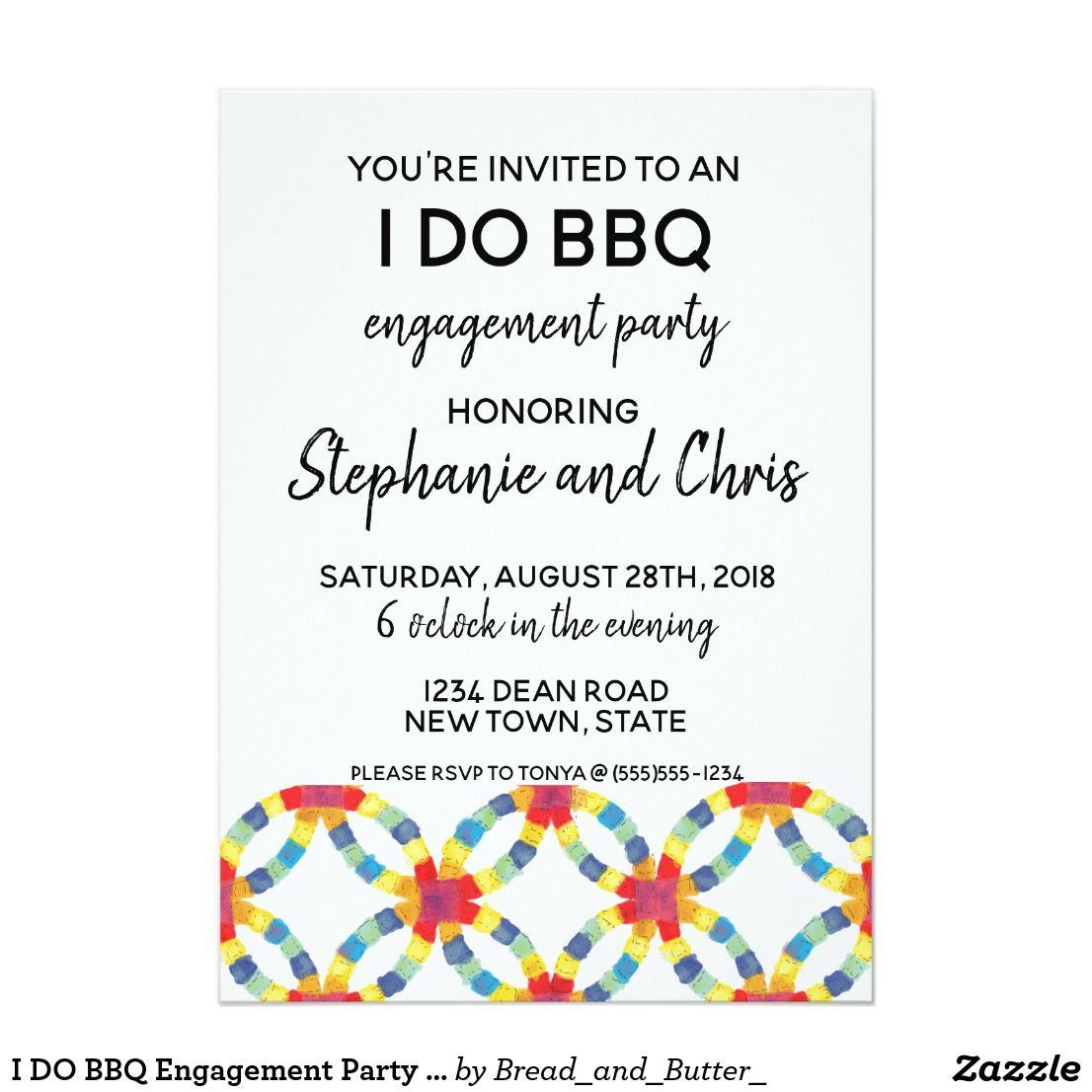 I DO BBQ Engagement Party Invitation | Zazzle | Pinterest ...
