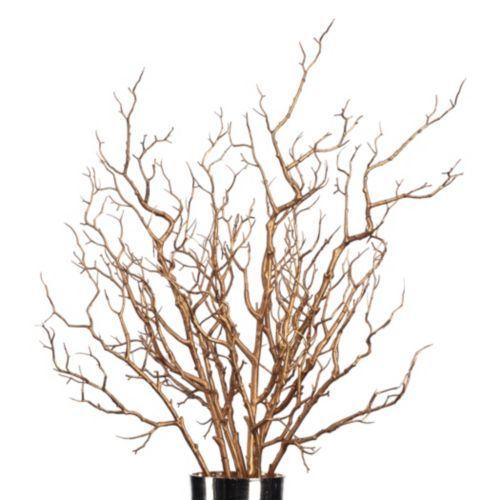 Metallic Branch Gold Diy Decorative Accessories