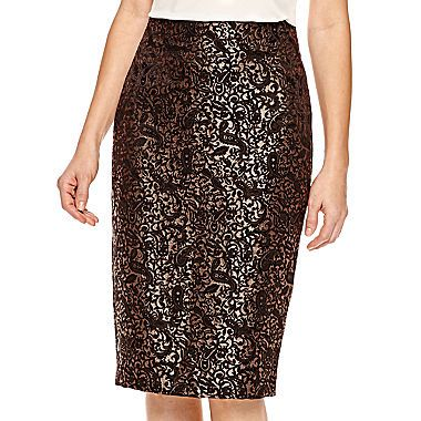 e38381c3ba3 JCPenney - Worthington® Jacquard Pencil Skirt