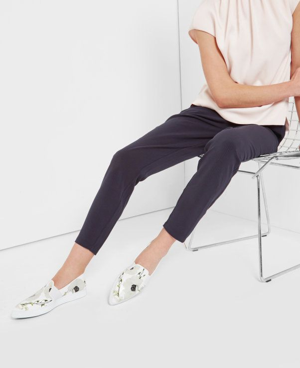 Tapered zip luxe jogger trousers