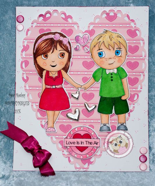 Love Is In The Air with this weeks Friday Design Team Challenge...22/1/16 by @traceymo15 #cardmaking