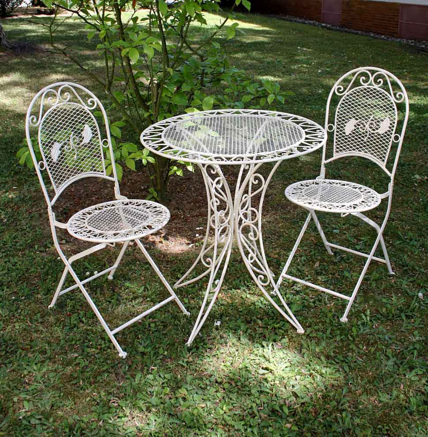 Vintage Wrought Iron Table And Chairs Balcony Garden
