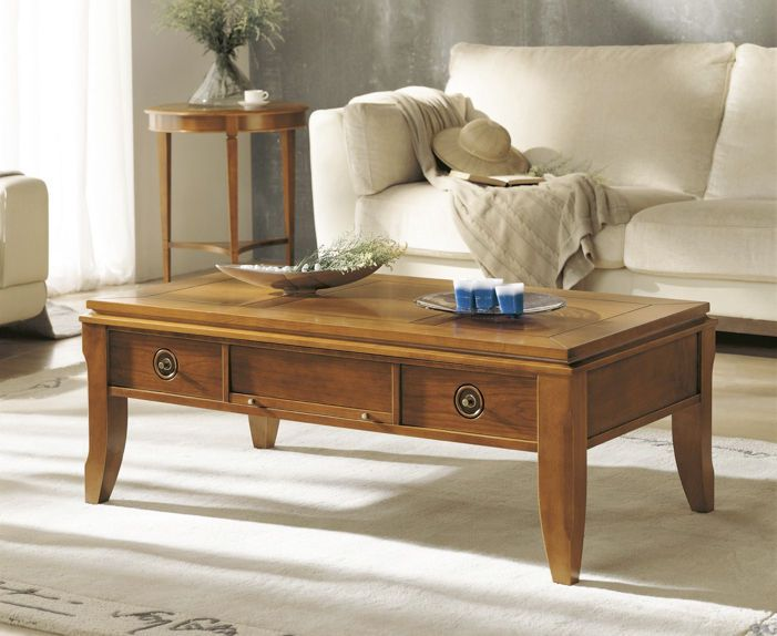 Traditional Coffee Table With Storage 141 Alcomobel S L Coffee Table Traditional Coffee Table Coffee Table With Storage #side #tables #with #drawers #for #living #room
