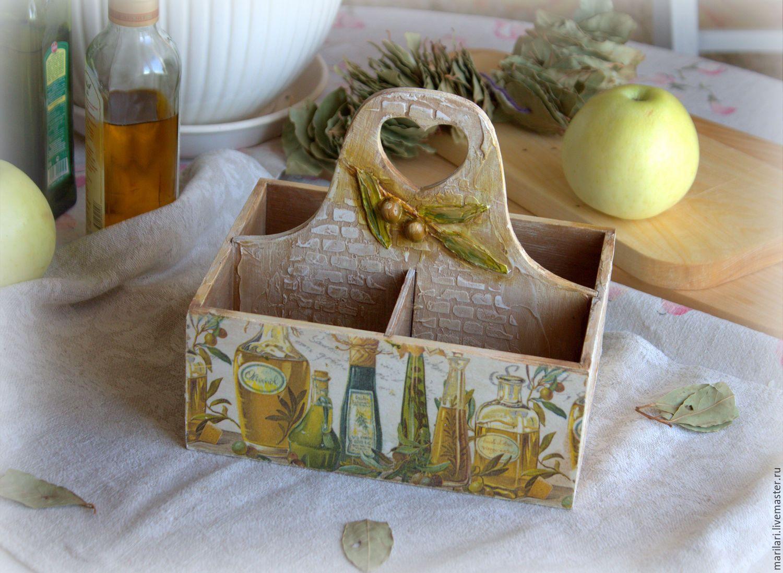 """Купить Короб """"Олива"""" - оливковый, короб для хранения, прованс, оливки, кирпич, масло, для хранения масла"""