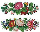 Roses and petunias vintage cross stitch pattern for by Smilylana