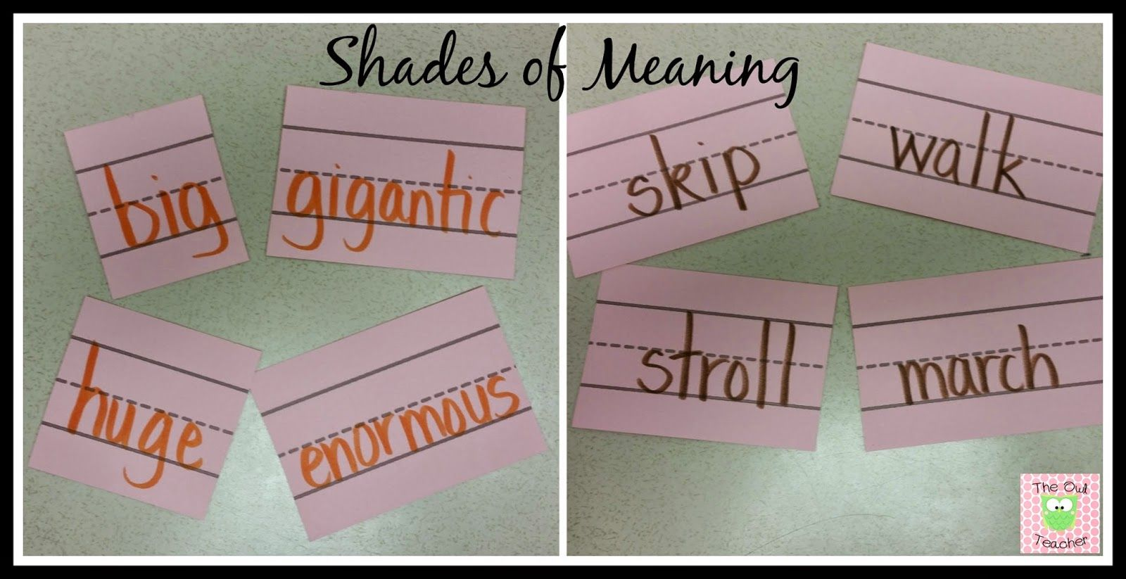 Shades Of What Shades Of Meaning Shades Of Meaning Elementary Classroom Meant To Be