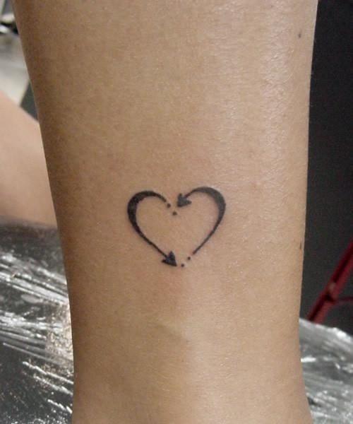 The Arrow Heart Vriendinnen Tattoo Tatoeage Ideeën