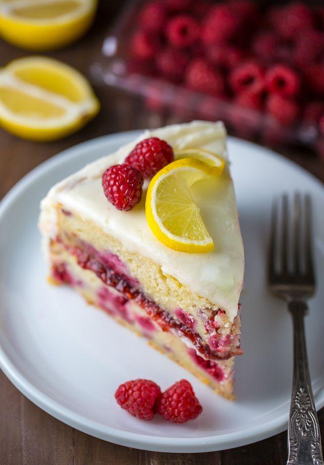 Lemon Raspberry Cake Recipe Raspberry Cake Cake Recipes Food