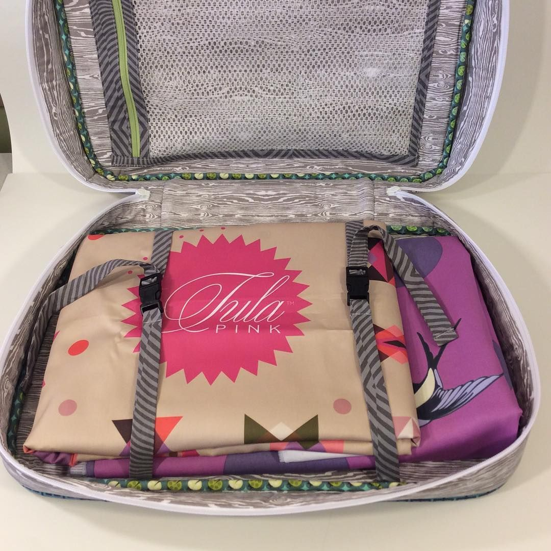 Here are the hacks I made on the #honeymoonersuitcase - the netted pocket and the luggage straps. You can find the tutorials on Sew Sweetness blog at sewsweetness.com. #tulapink #sewsweetnesspattern #bigcitybags