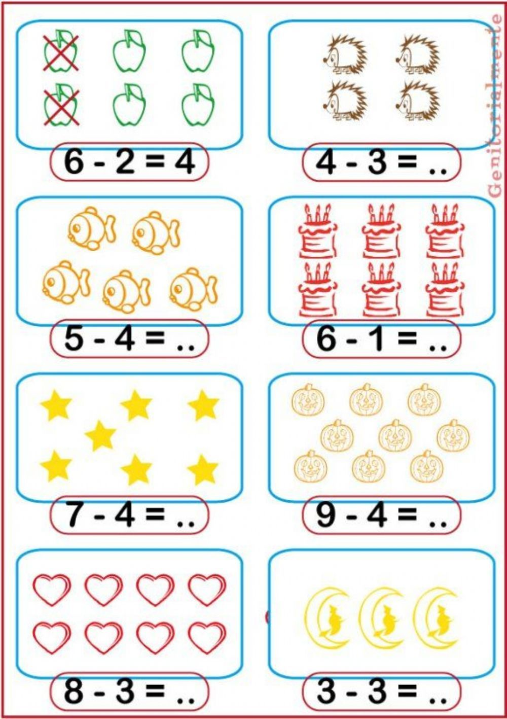 Sottrazioni Interactive And Downloadable Worksheet You Can Do The Exer Kids Math Worksheets Kindergarten Math Worksheets Kindergarten Math Worksheets Addition [ 1417 x 1000 Pixel ]