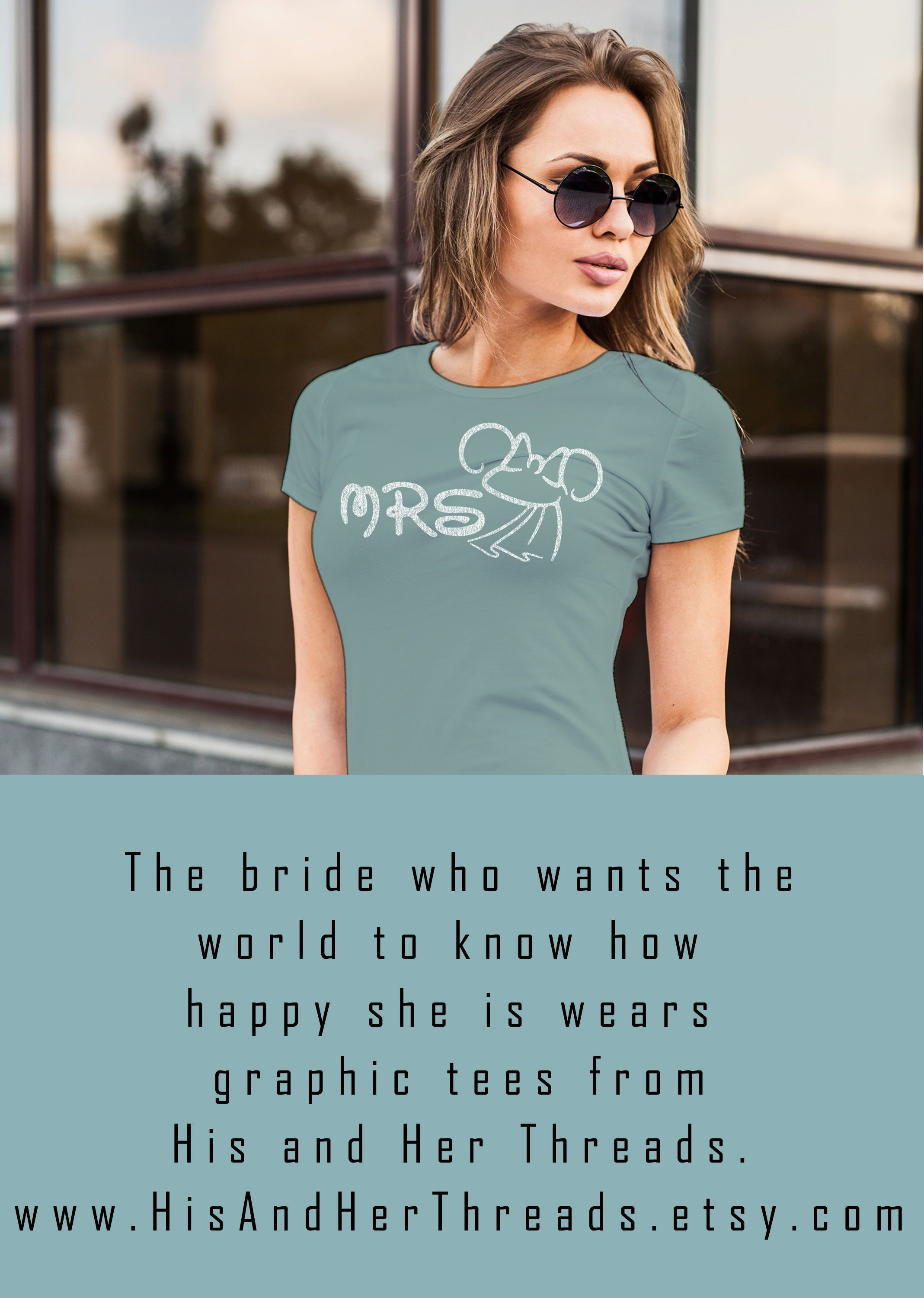 His and Her Wedding t-shirts Mouse Ears Bride and Groom T-shirts