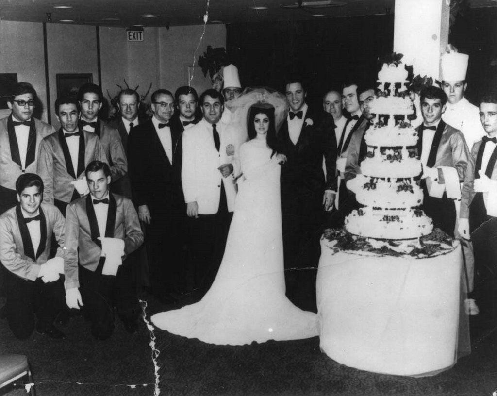 Elvis Priscilla Presley Wedding Party 1967 Las Vegas Graceland
