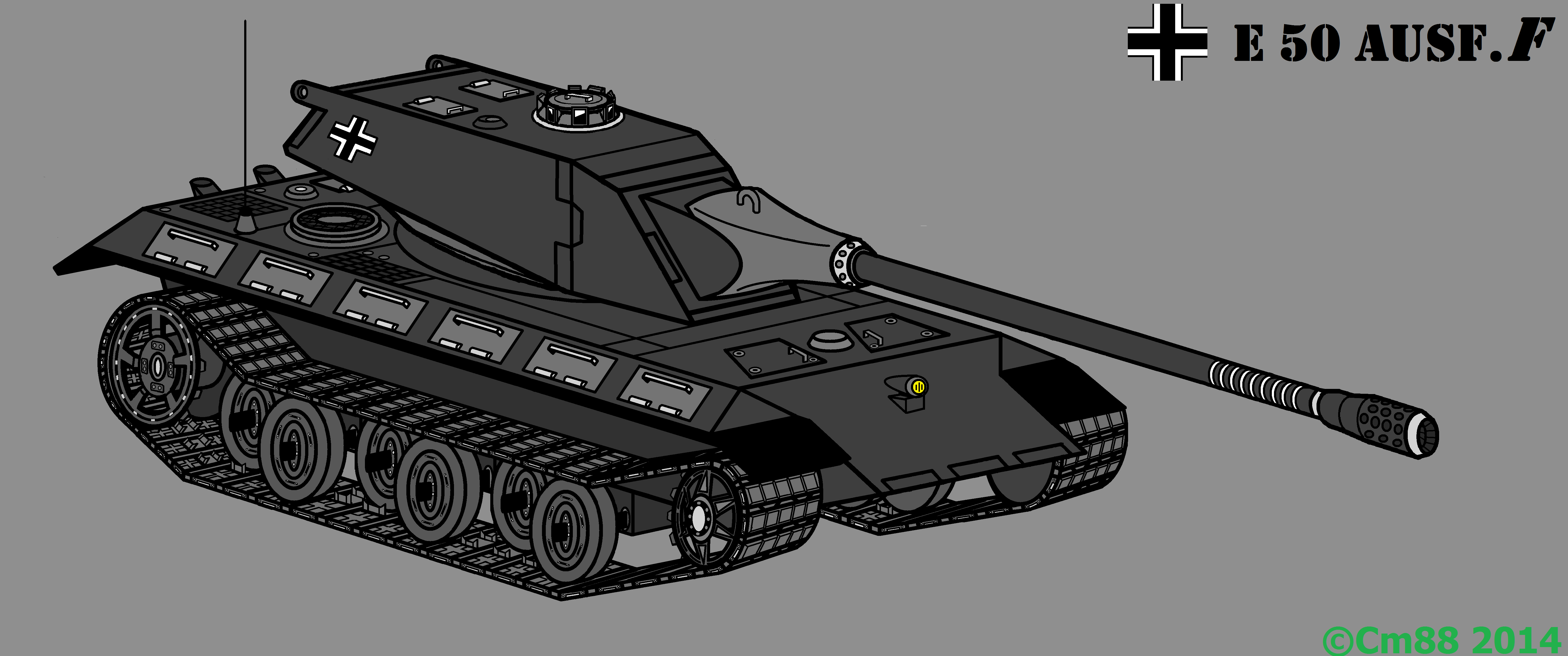 E 50 Ausf F Concept tank - Fan Art - World of Tanks official