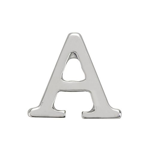 SILVER LETTER CHARMS Make a simple and stunning statement with our - statement letter