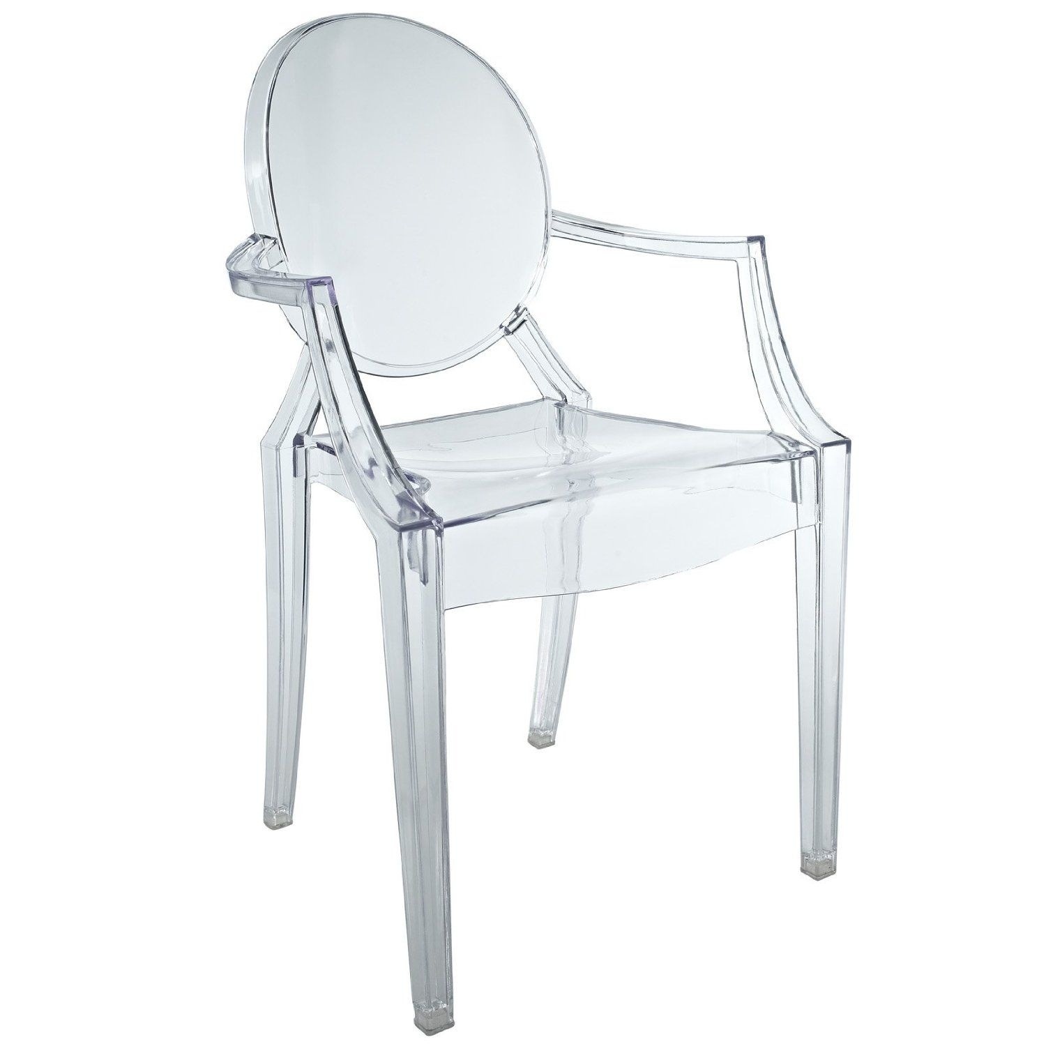 Clear Kitchen Chairs: Amazon.com: LexMod Philippe Starck Style Mini Louis Ghost