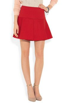 abc24cecd196 Pleated stretch-cotton mini skirt by RED Valentino | my style | Mini ...