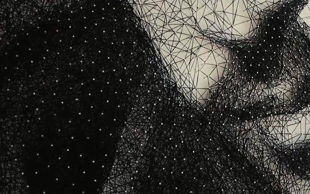 Justin Timberlake Portrait Made of 24km Thread
