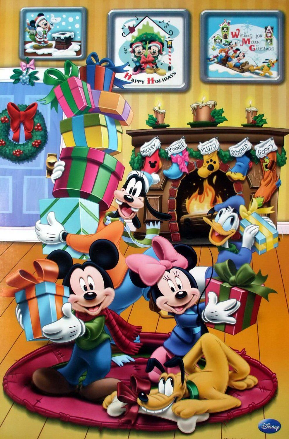 Disney Mickey Mouse And Friends Merry X'Mas Disney