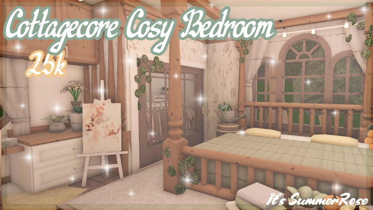 Cottagecore Cosy Bedroom | Bloxburg Speed Build | It's SummerRose
