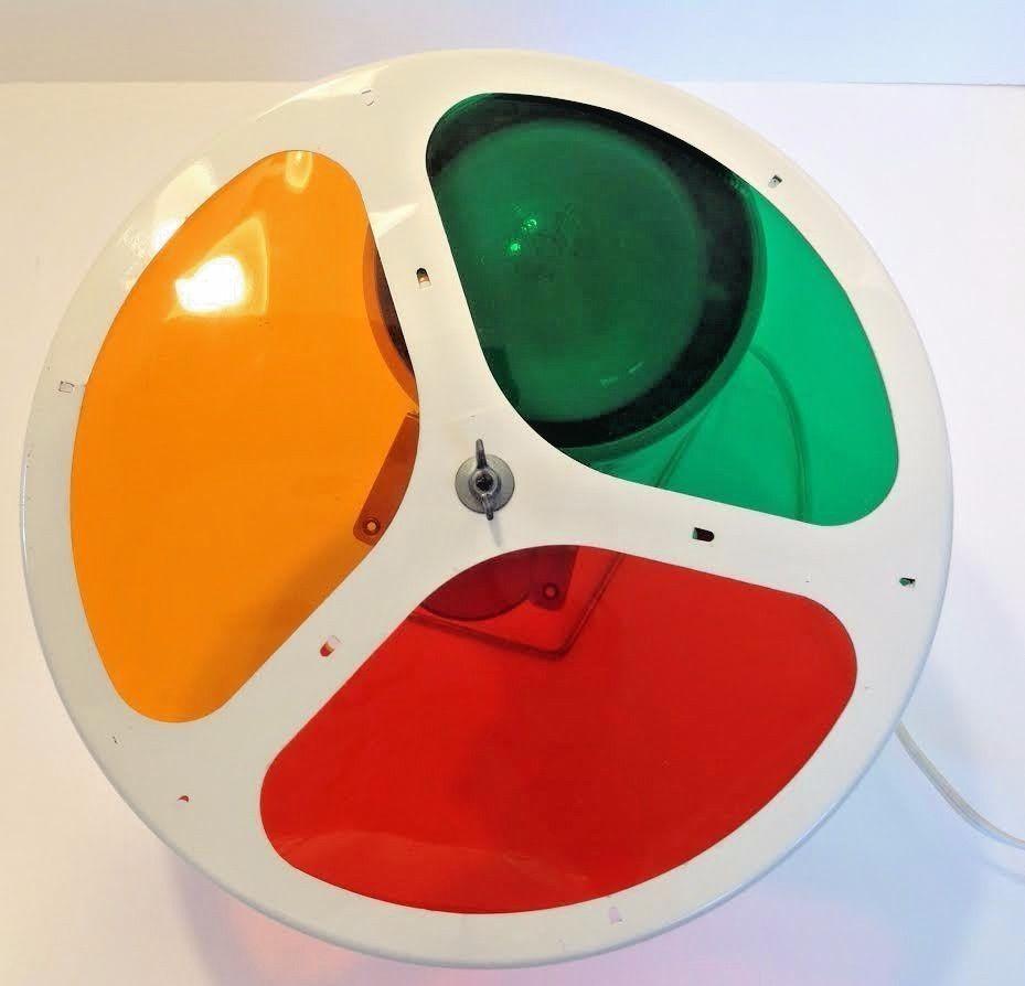 Vintage Rotating Color Wheel Light Aluminum Christmas Tree Lamp