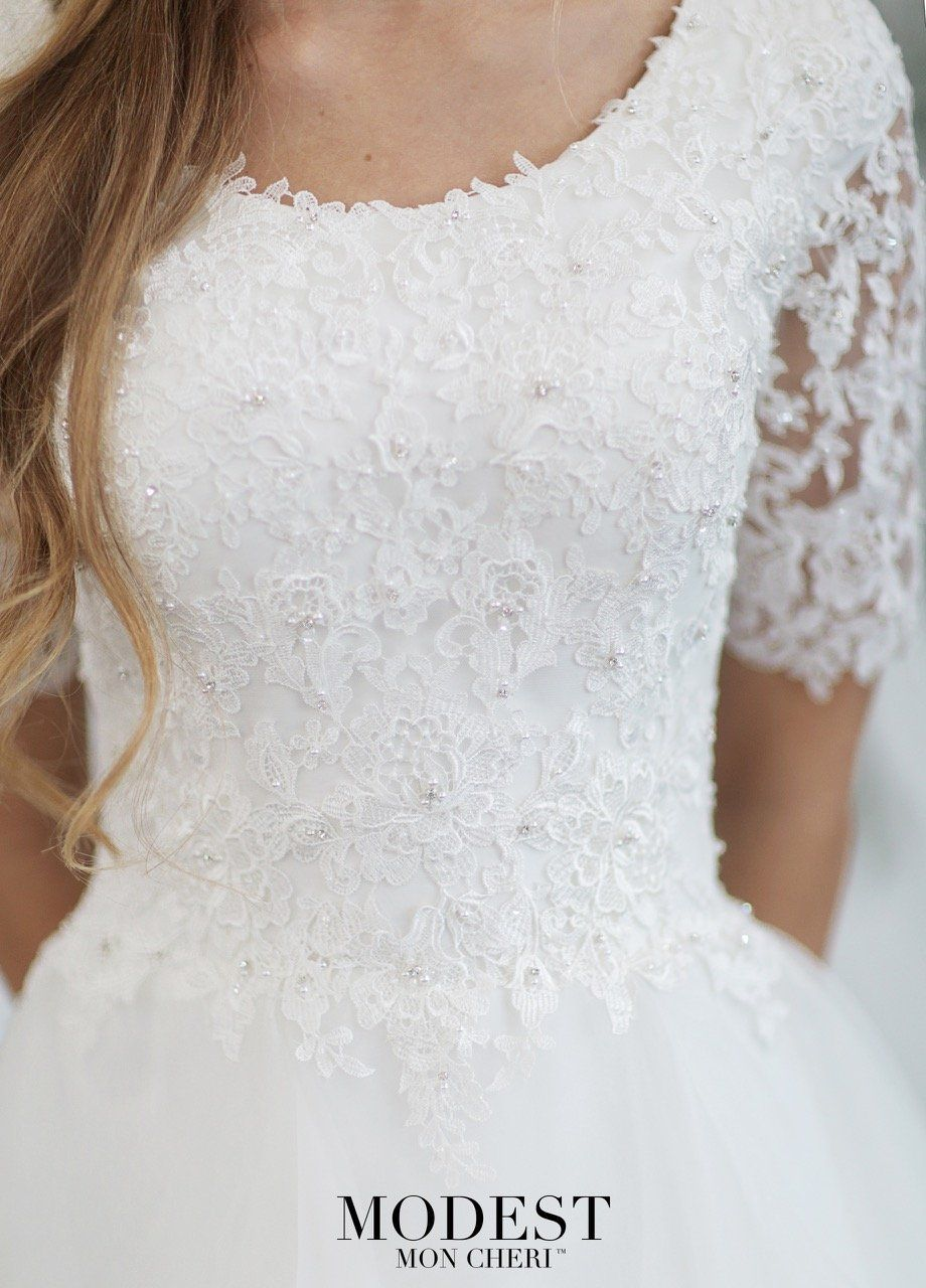 Mon Cheri TR21860 Modest Wedding Dress
