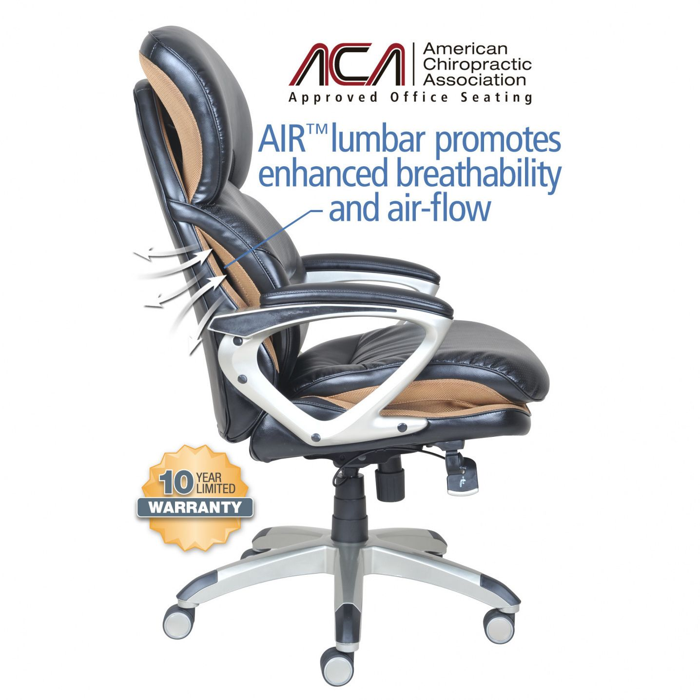 La Z Boy Delano Big And Tall Executive Office Chair Chestnut Qdos Fishing American Chiropractic Association Approved Chairs