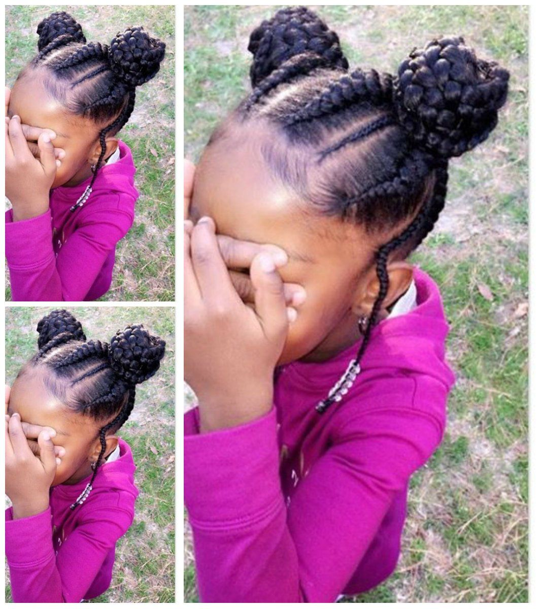 29 Braided Cornrows With Buns For Little Black Girls Afrocosmopolitan Kids Braided Hairstyles Kids Hairstyles Hair Styles