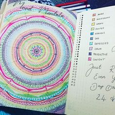 I have no words for this beauty from @bujo.mama Mood mandala - so beautiful!