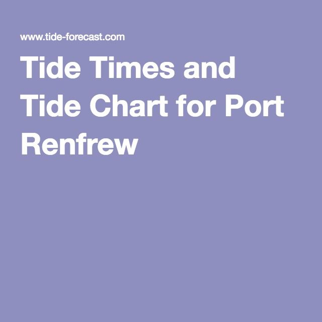 Tide Times And Tide Chart For Port Renfrew Vancouver Island