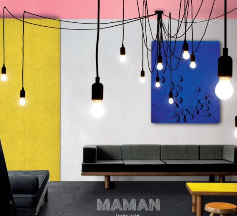 une tr s belle lampe tentaculaire et originale faite pour rendre service suspension luminaire. Black Bedroom Furniture Sets. Home Design Ideas