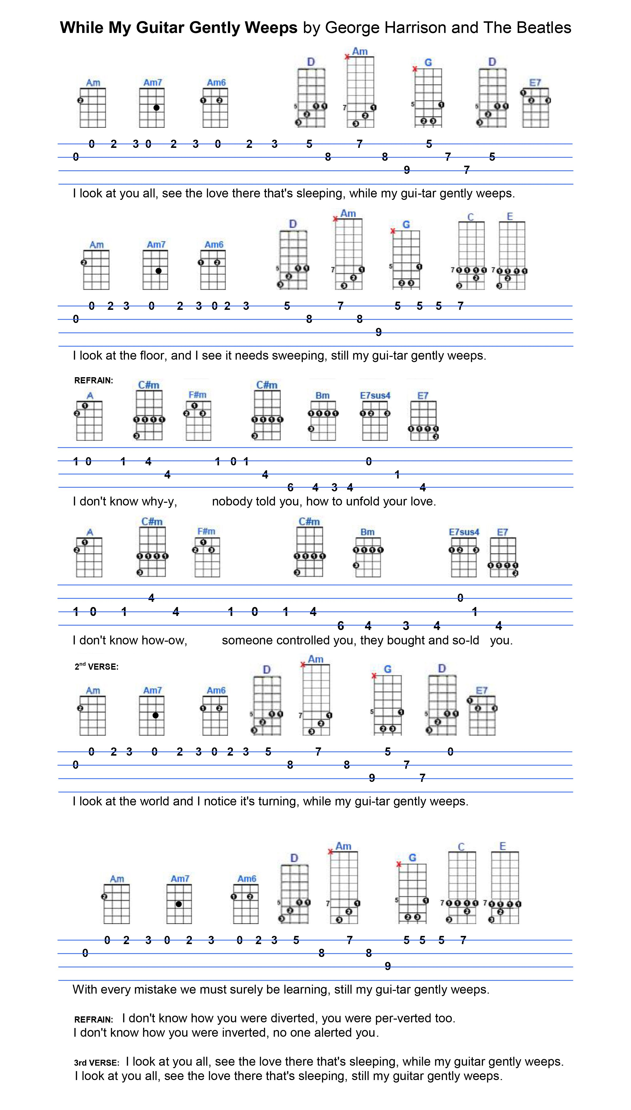 While my guitar gently weeps learn guitar pinterest guitars guitar chord progressions hexwebz Images