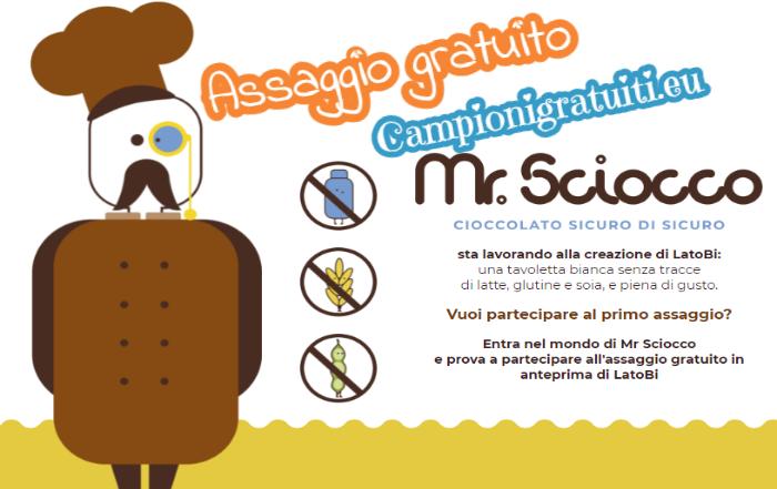 Assaggio gratuito Cioccolato Mr Sciocco LatoBi