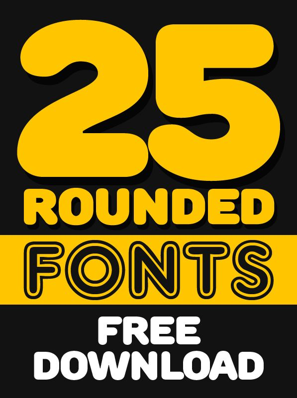 25 Free Rounded Fonts for Designers #freefonts #roundedfonts #fonts