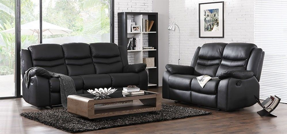 Inspirational Black Genuine Leather Sofa Beautiful 71 For Your Small Home