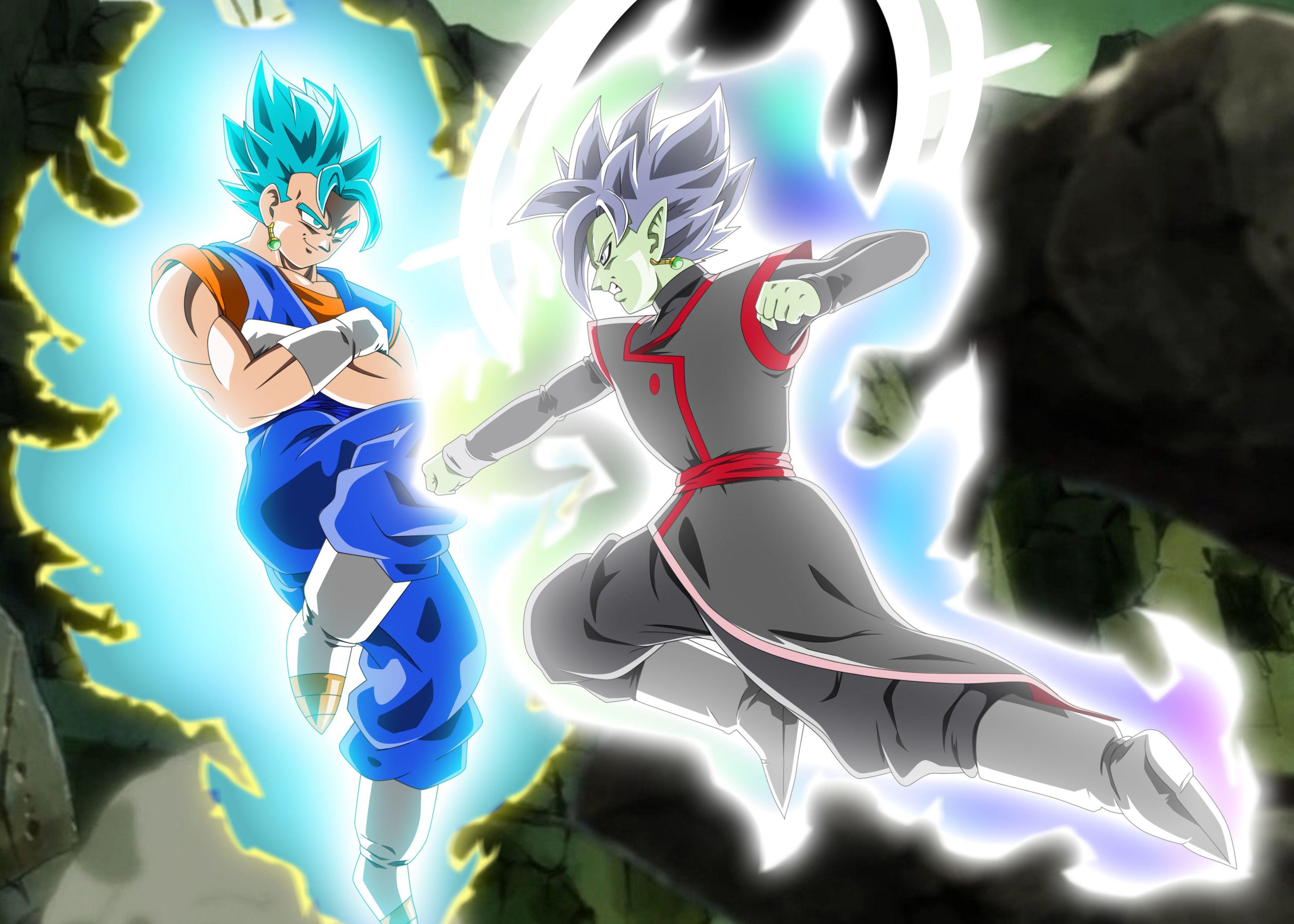 Vegetto Vs Zamasu By Akaggi Damg4nq Jpg 3500 2500 Dragon Ball Super Goku Dragon Ball Z Anime Dragon Ball