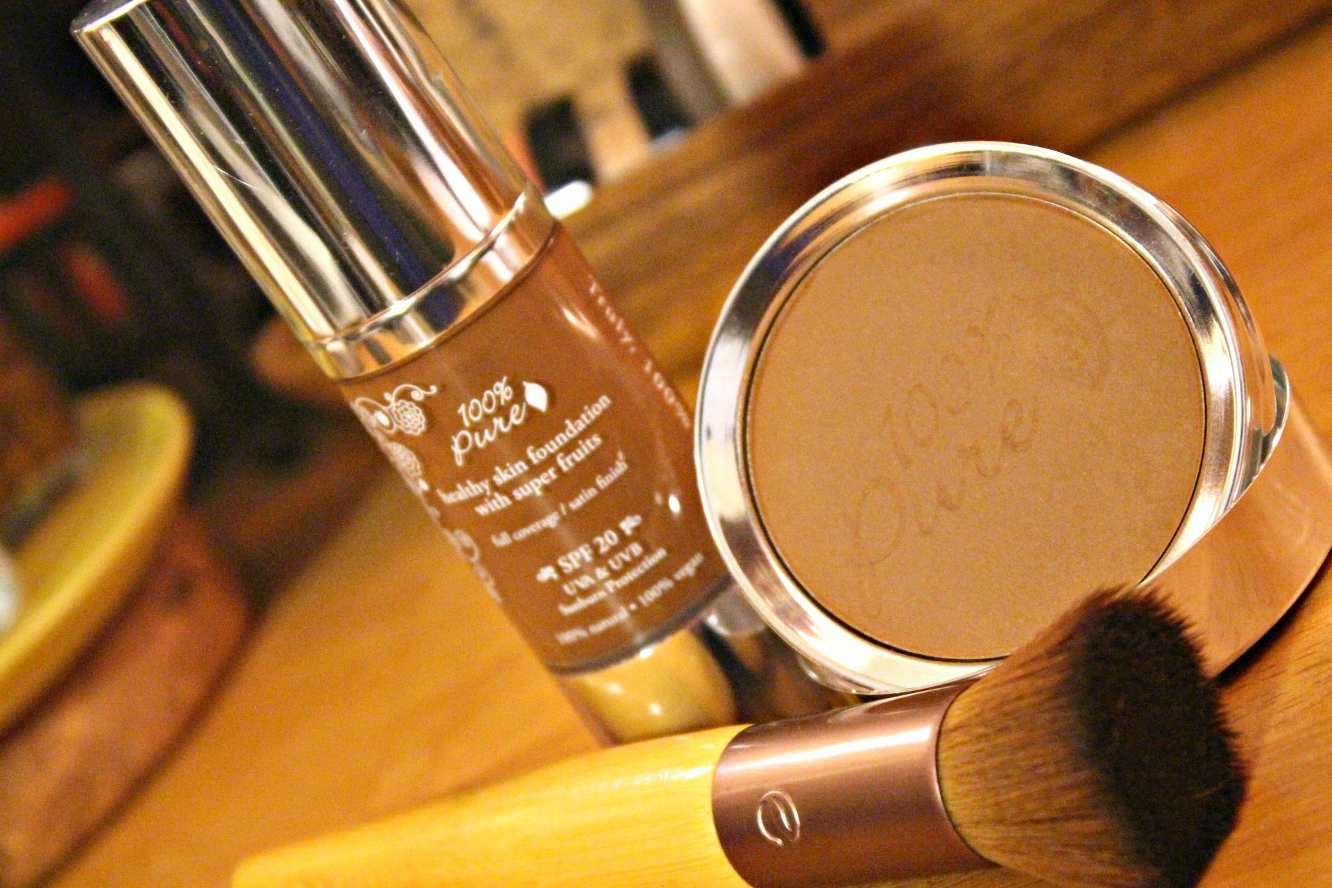 100 Percent Pure Healthy Skin Foundation and Powder in