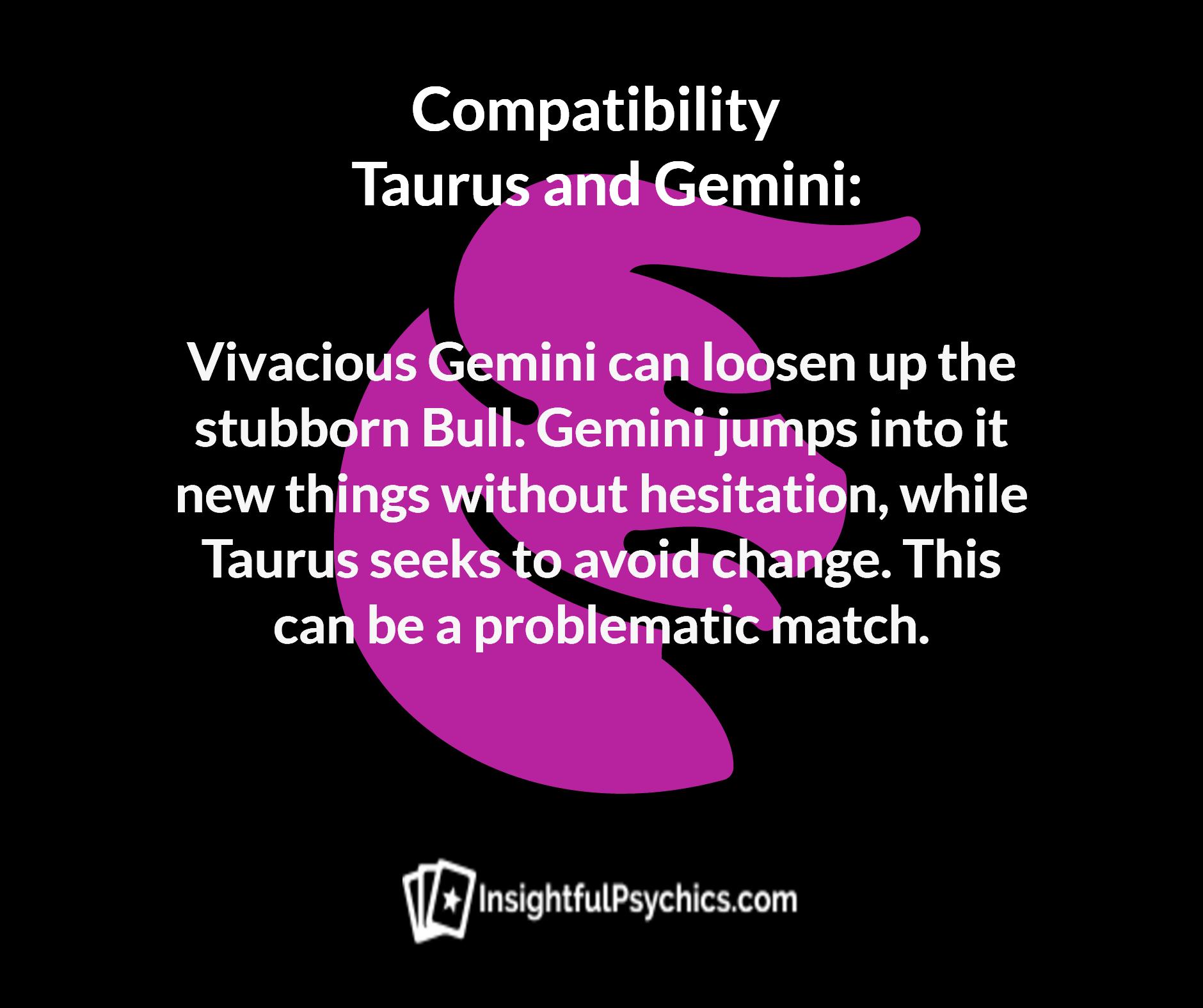 Gemini and taurus compatibility