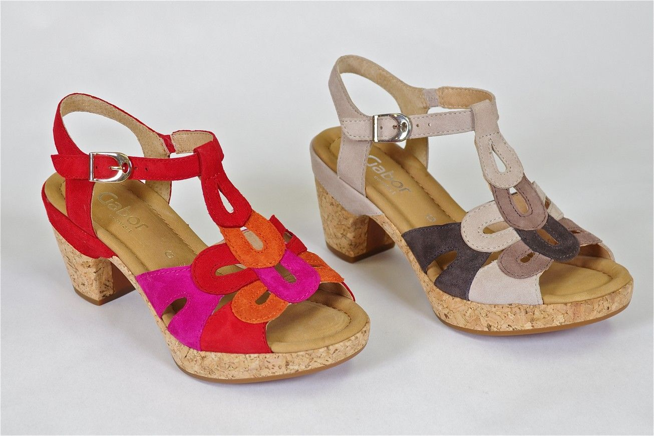 2bc076123 T Strap by Gabor - Fun with loads of support. This Gabor sandal features a  padded insole and a solid 2 1 2 inch heel and a 3 4 inch platform all o…