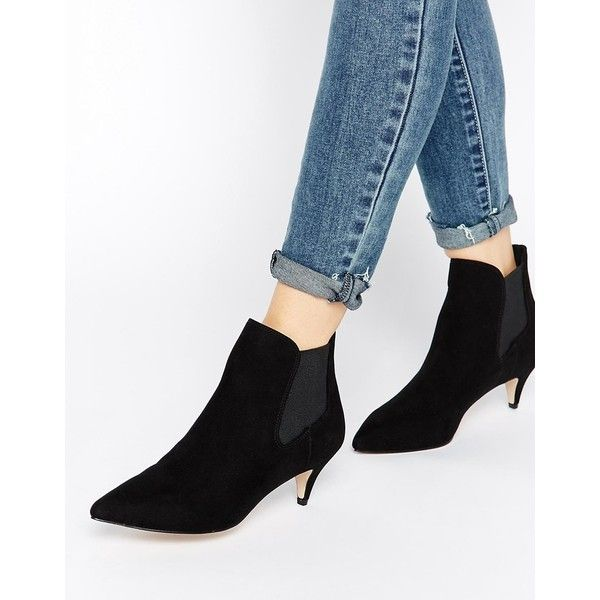 Asos Redchurch Kitten Heel Ankle Boots 56 Found On Polyvore Featuring Shoes Boots Ank Kitten Heel Ankle Boots Boots Outfit Ankle Heeled Ankle Boots Outfit