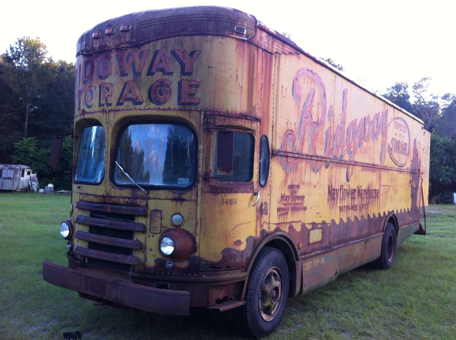 This 1953 Twin Coach Mayflower Moving Van Is The Coolest Old Big