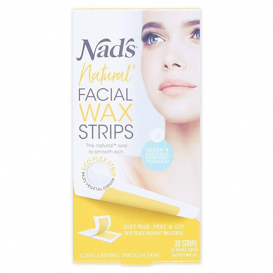 Nad's 30Count Facial Wax Strips RemovalOfUnwantedHair in