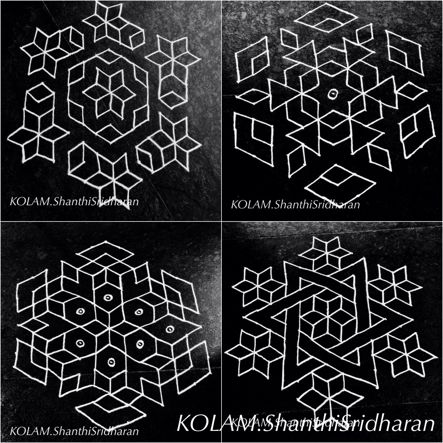 Kolamblackwhite13to7 small rangoli design rangoli designs with dots