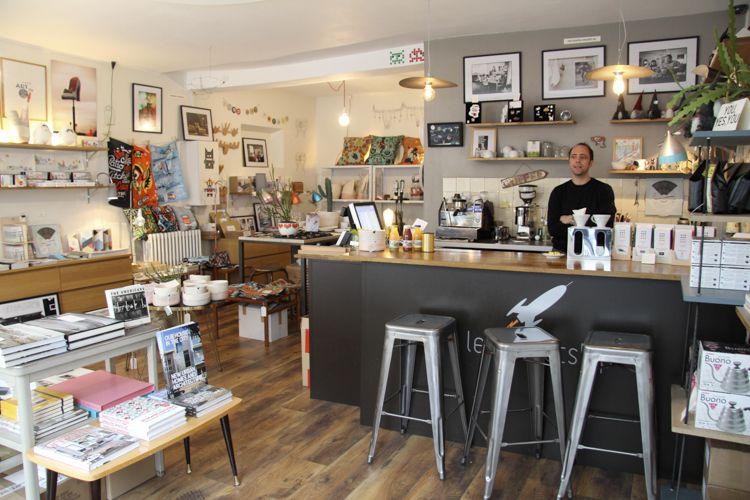 Rocketship petit boutique de d co et comptoir pour d guster un vrai bon caf fait avec une - Le comptoir du petit marguery paris 13 ...