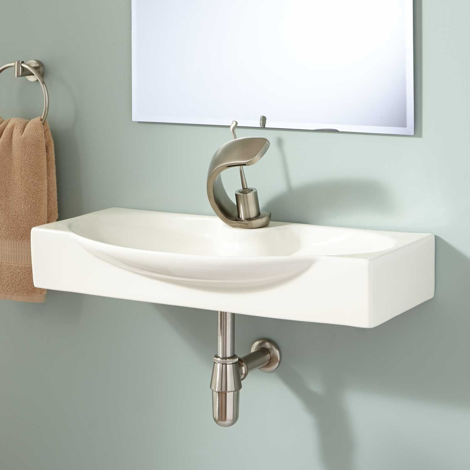 2nd Bathroom Lav Ronan Wall Mount Bathroom Sink Wall Mounted Bathroom Sinks Bathroom Sink Design Modern Bathroom Sink
