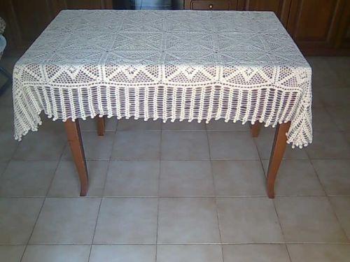 Copritavolo Uncinetto ~ Copritavolo rettangolare ad uncinetto mis.170 x 120 cotone 100